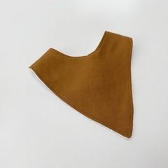 Golden in linen bandana bib