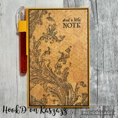 Mini Notebook with Gel Pen - just a little note