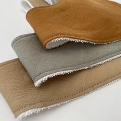 Linen bandana bib set