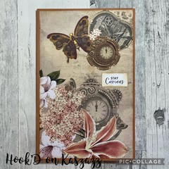 Refillable Notebook -Large A5 -STAY CURIOUS