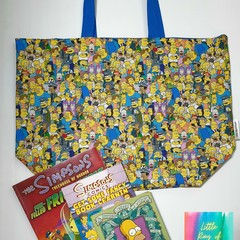 Simpsons, yellow family Large tote bag/market shopper
