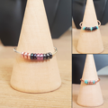 Seed bead anxiety ring, Seed bead worry ring, Meditation ring