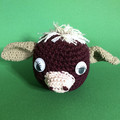Chestnut Cow with Taupe Ears - Ball Toy