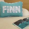 Blue Seafaring Name Cushion