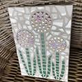 Mosaic Iridescent Alliums Wall Art Home Decor Unique Gift