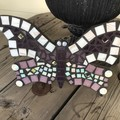 Mosaic Butterfly Garden Wall Art Home Decor Unique Unusual Gift
