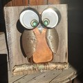 Rustic Cooper The Copper Owl Garden Art Unique Unusual Upcycled One Of A Kind