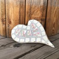 Mosaic Heart Wall Art Unique Unusual One Of A Kind Gift