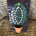 Mosaic Iridescent Cactus Home Decor Unique Unusual Gifts