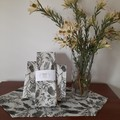 TEA TOWEL AND TABLE RUNNER/DEVONSHIRE COLLECTION/LINEN COTTON FABRIC