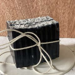 Handmade Deep Sea Soap with Raw Indigo, Violet essence, mica flakes & sea salt