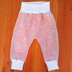 Pink Unicorn Harem Pants - size 0