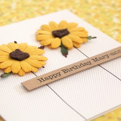 Sunflowers Birthday Card, Personalised Birthday Card For Her