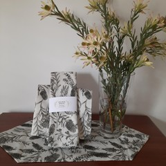 TEA TOWEL AND TABLE RUNNER/DEVONSTONE COLLECTION/LINEN COTTON FABRIC