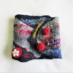 Felted Earring Case Organizer Jewelry Handmade Multicolor