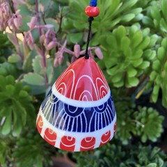 Red and blue Garden bell/ wind chime