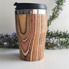 Wooden travel cup, Wooden coffee mug, Keep cup, Gift for him, Re-usable cup