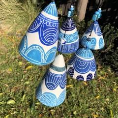 Blue sky ☁️ Garden bell SET of 5