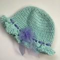 Little Girls Crochet Bucket Hat