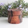 Handmade  turned wooden  ring box, Engagement ring box. Wedding ring box,