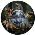 Dinosaur Cake Edible Printed Toppers