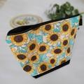 """""""Sunflowers"""" zipper pouch"""