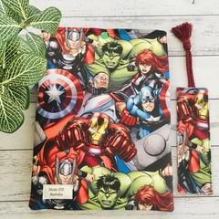 Comic-Con superhero padded booksleeve & bookmark gift set.