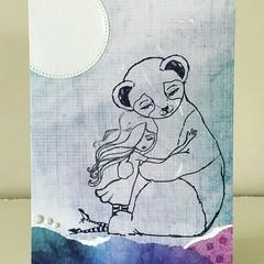 Moonlight hugs card