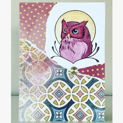 Golden owl card