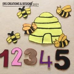 Here is a Beehive Felt Set