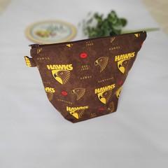 """""""Hawks"""" zipper pouch"""