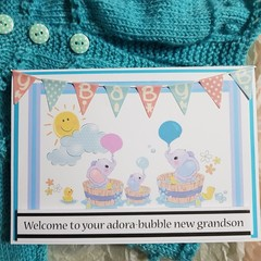 Adora-bubble baby card - New baby, baby shower, Congratulations, Personalised