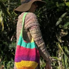 Crochet Marley Market Bag - crochet market bag, crochet bag, boho bag, hippy bag