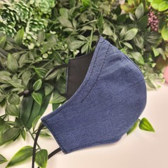 Denim Look- Face Cover (Mask) - 3 Layers - Unisex