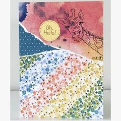 Oh hello giraffe card