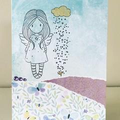 Angel rain card