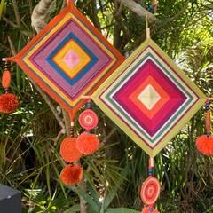 CUSTOM Be Brave crochet wall hanging - ojos de dios, Selective Mutism awareness,