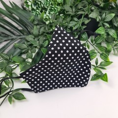 Spotty Black and White - Face Cover (Mask) - 3 Layers - Unisex