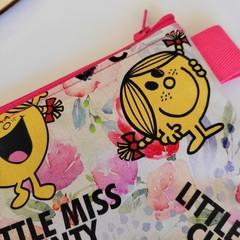 """"""" Little Miss C"""" medium flat zipper pouch"""