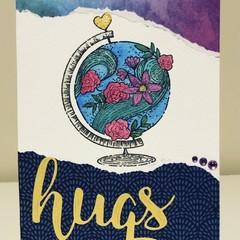 Hugs across the world card