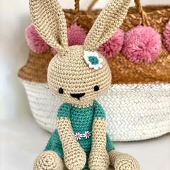 Crochet Bunny, READY TO POST, Crochet Bunny Rabbit, Baby Girl Toy, personalised