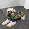 READY MADE Dog Coats BRIGHT TIE DYE FLANNELETTE & FLEECE Various Sizes