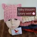 Childrens' animal ears luxury wool beanies