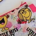 """"""" Little Miss C"""" large flat zipper pouch"""