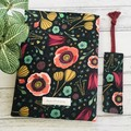 Forest jewels organic cotton padded booksleeve & bookmark gift set.