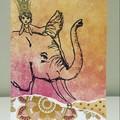 Elephant and princess card