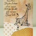 Giraffe wisdom card