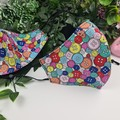 Buttons Colourful - Face Cover (Mask) - 3 Layers - Unisex