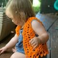 Crochet girls boho vest - festival child, toddler hippy vest