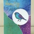 Dream big birdie card